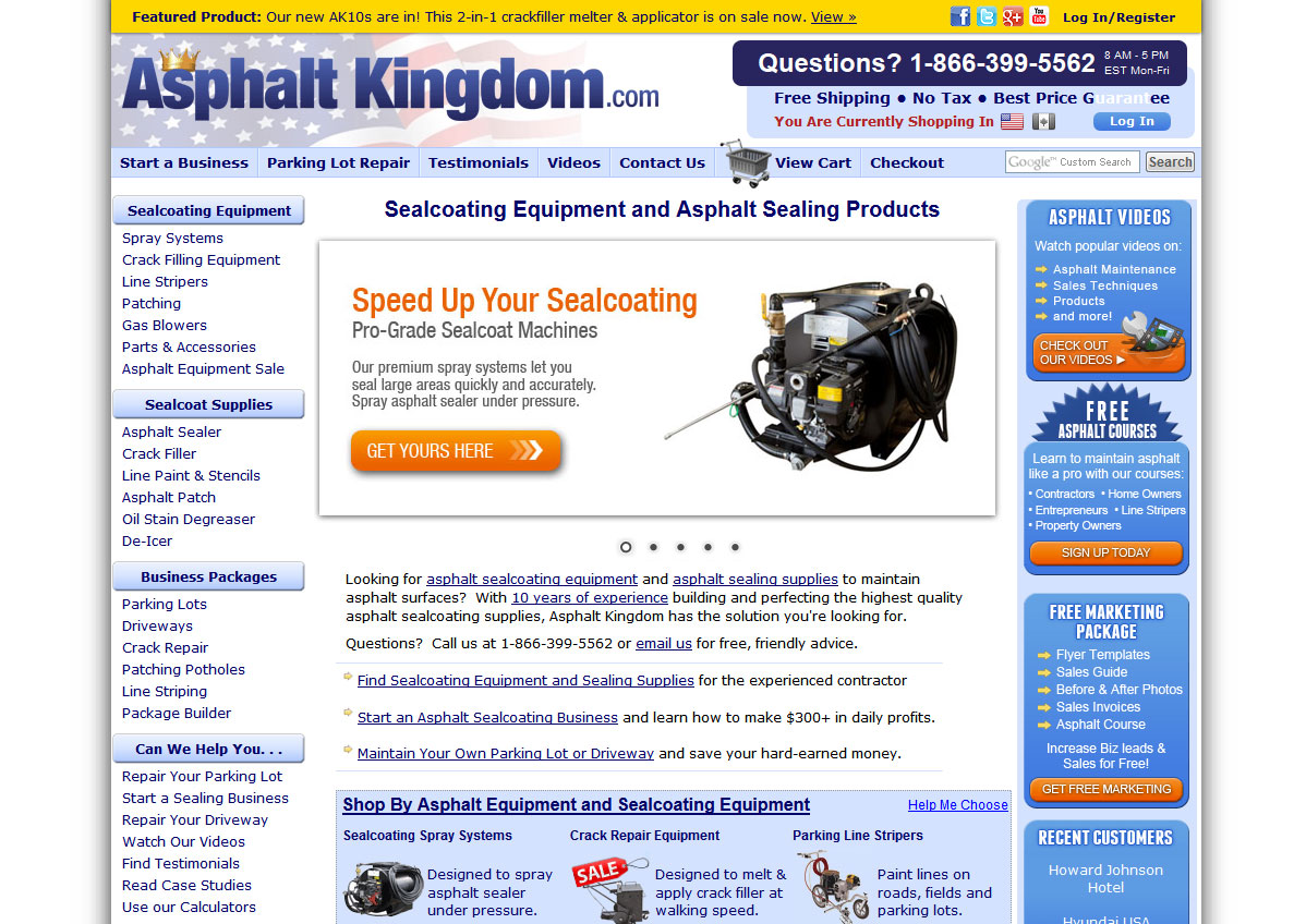 Asphalt Kingdom: an asphalt maintenance equipment store