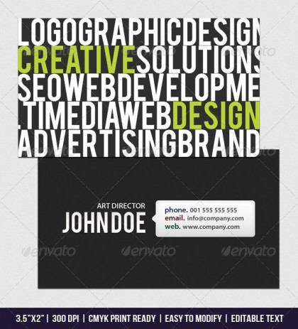 Web Designers business card
