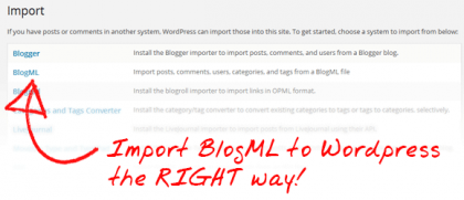 Import BlogML to Wordpress