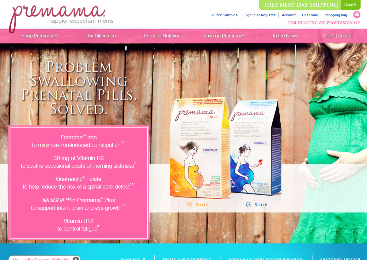 Premama offers prenatal nutrition in an easy powder