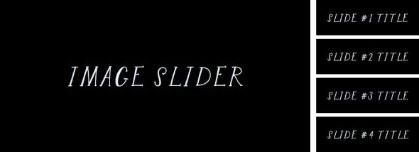 Frame for a tabbed slider