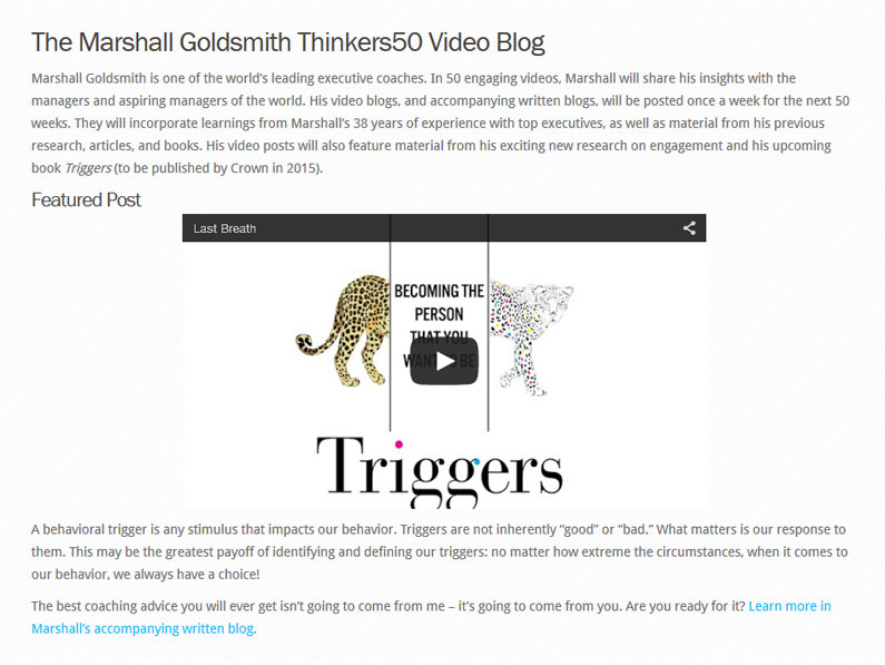 Thinkers50 Video Blogs