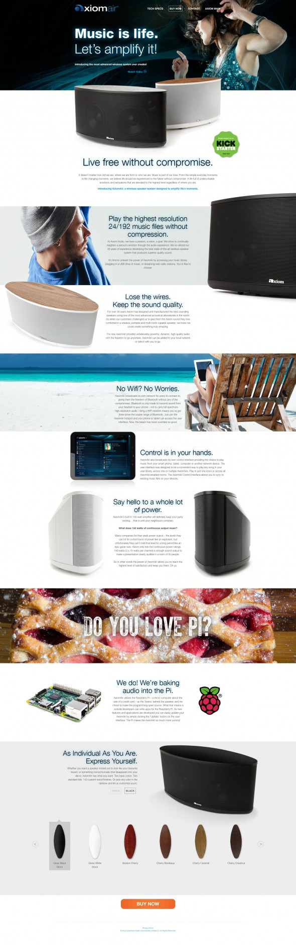Axiom Air Landing Page
