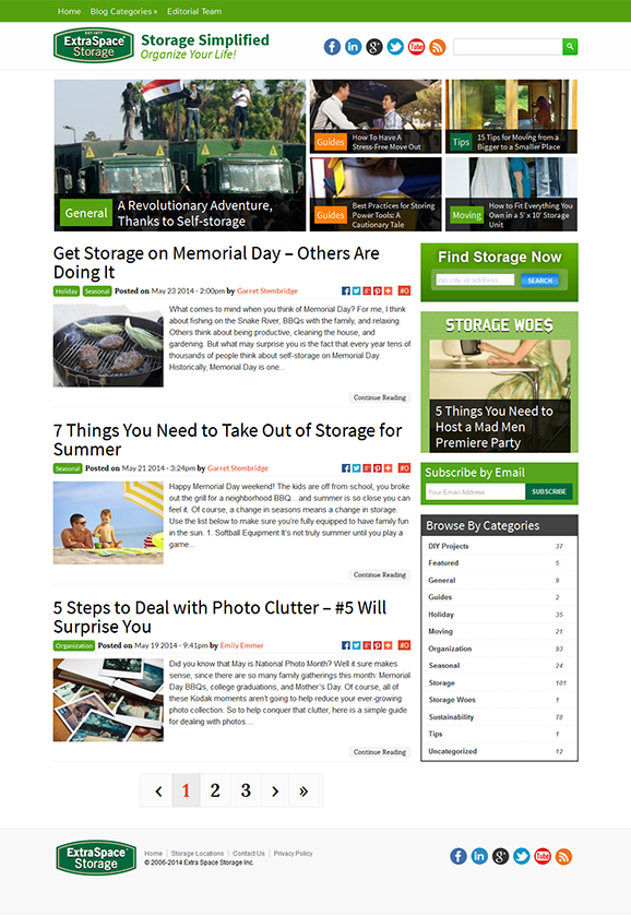 Storage Blog redesign